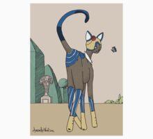 Constance, Art Deco Cat One Piece - Long Sleeve