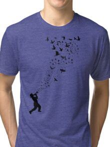 Music - Freedom Music and the Birds Tri-blend T-Shirt