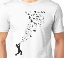 Music - Freedom Music and the Birds Unisex T-Shirt