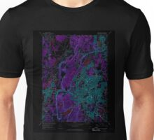 USGS TOPO Map Connecticut CT New Britain 330707 1966 24000 Inverted Unisex T-Shirt