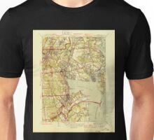 USGS TOPO Map Rhode Island RI East Greenwich 353412 1944 31680 Unisex T-Shirt