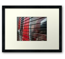 Graffiti - painting in black and red Framed Print