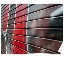 Graffiti - painting in black and red Poster