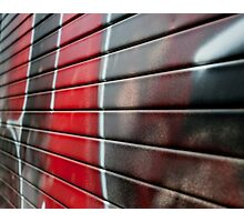 Graffiti - painting in black and red Photographic Print