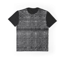 Black and white abstract chain pattern Graphic T-Shirt