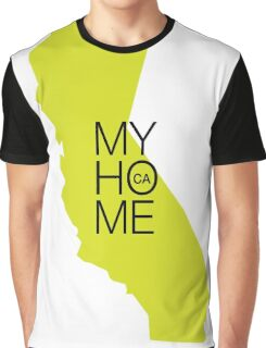 California my home. State map CA Graphic T-Shirt