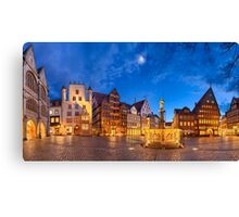 Market square of Hildesheim, Germany Canvas Print