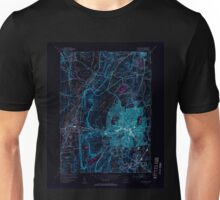 USGS TOPO Map Connecticut CT New Britain 330944 1953 31680 Inverted Unisex T-Shirt