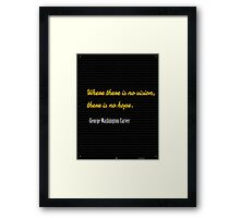 Where there is no vision,...... George Washington Carver Framed Print