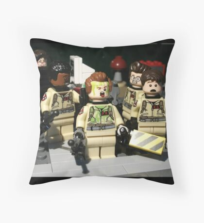 Lego Ghost Busters Slimer Attack Throw Pillow