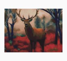 Red Stag in the Forest Kids Tee