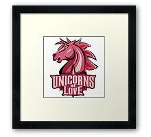 Unicors Of Love EU LCS 2016 Framed Print