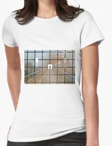 Abstract photo with a silhouette of a man Womens Fitted T-Shirt