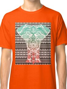 Colorful Red and Blue Ornate Floral Elephant Classic T-Shirt