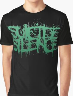 Suicide Silence Green Logo Graphic T-Shirt