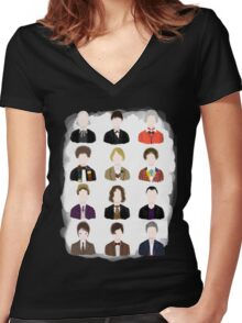 Twelve Doctors. Women's Fitted V-Neck T-Shirt