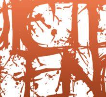 Suicide Silence Orange Logo Sticker