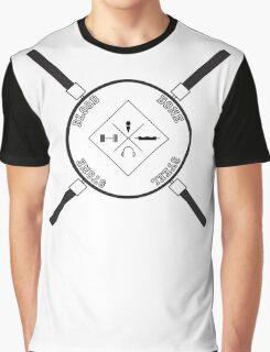 Blood, Bone, Steel Stone Graphic T-Shirt
