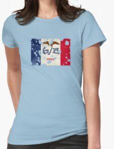 Iowa Splatter Womens Fitted T-Shirt