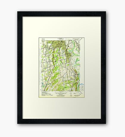 USGS TOPO Map Connecticut CT Hartford South 330885 1944 31680 Framed Print