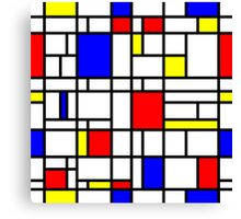 Modern Art Red Yellow Blue Grid Pattern Canvas Print