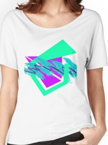 90's abstract vaporwave aesthetics Women's Relaxed Fit T-Shirt