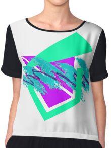 90's abstract vaporwave aesthetics Chiffon Top