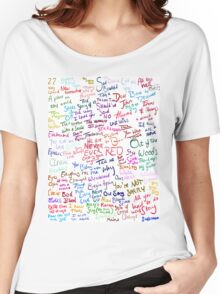 Taylor Swift Song Names Women's Relaxed Fit T-Shirt