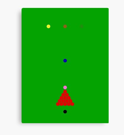Snooker Canvas Print