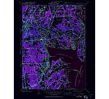 USGS TOPO Map Rhode Island RI East Greenwich 353279 1942 24000 Inverted Photographic Print