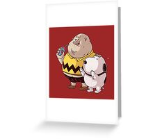 fat snoopy Greeting Card