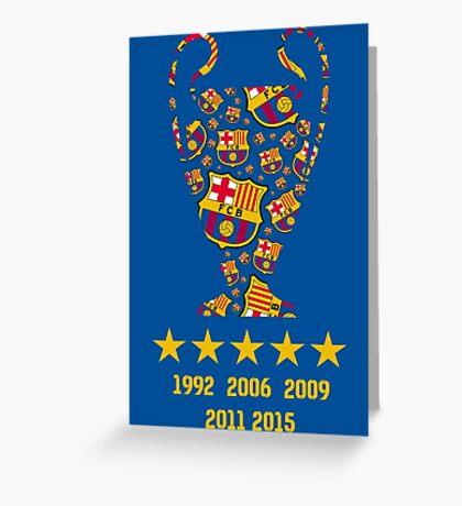 FC Barcelona - Champion League Winners Greeting Card