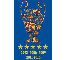 FC Barcelona - Champion League Winners Photographic Print