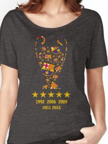 FC Barcelona - Champion League Winners Women's Relaxed Fit T-Shirt