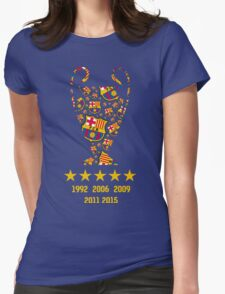 FC Barcelona - Champion League Winners Womens Fitted T-Shirt