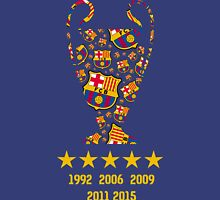FC Barcelona - Champion League Winners Unisex T-Shirt