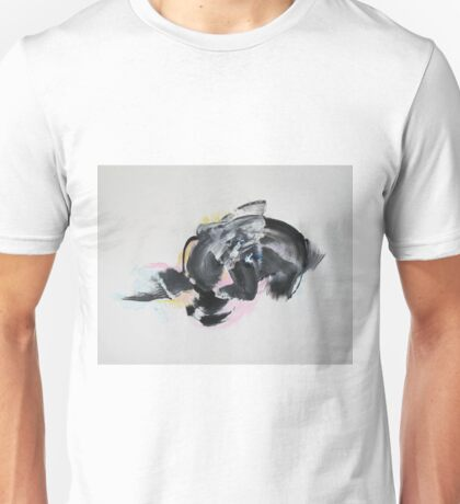 Angels bend down their wings to a seeker of knowledge - Original Wall Modern Abstract Art Painting Unisex T-Shirt