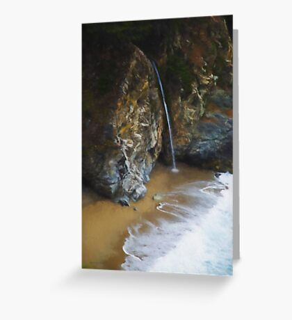 McWay Falls Big Sur CA Greeting Card