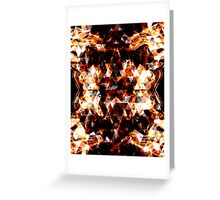 Triangle geometric sparkly fire Greeting Card