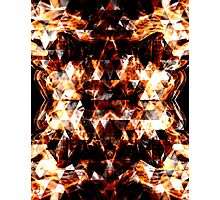 Electrifying orange sparkly triangle fire flames Photographic Print