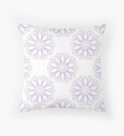 Violet lotus pattern Throw Pillow