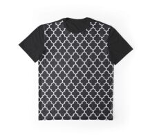 Moroccan Trellis, Latticework - Black White  Graphic T-Shirt