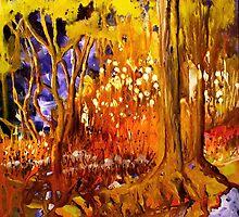 The Enchanted Forest by sandysartstudio