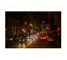 San Francisco Night I - Painterly Art Print