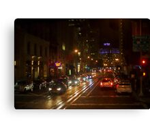 San Francisco Night I - Painterly Canvas Print