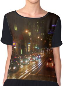 San Francisco Night I - Painterly Chiffon Top