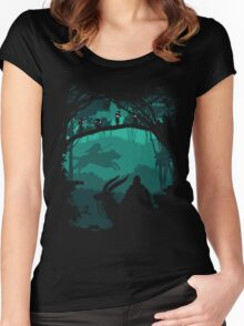 The Chief Leader and Princess Of Forest Women's Fitted Scoop T-Shirt