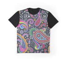 Oriental Persian Paisley - Green Pink Blue Yellow  Graphic T-Shirt
