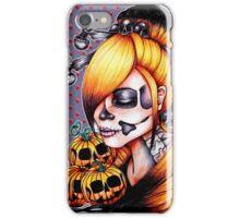 Halloween Pumpkin Background iPhone Case/Skin