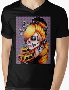 Halloween Pumpkin Background Mens V-Neck T-Shirt